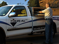 secure-all security doors installation truck