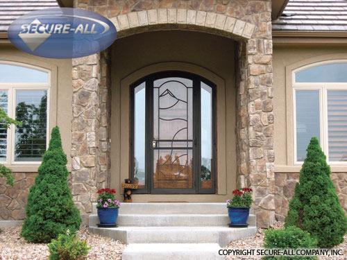 Unique Home Design Security Screen Door Break In
